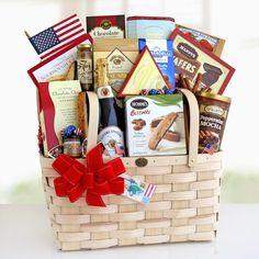 Classic American Picnic Gift Basket -  - http://giftbasketblessings.com/product/classic-american-picnic-gift-basket/