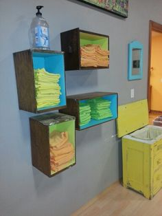May be able to use as a medicine cabinet too hhhhhhhhhhmmmmmmmmmmmm and us the fronts as a door......  Use drawers as shelves.. what a great idea for those old drawers they no longer slide in the dresser.