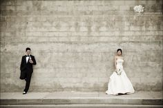 Cool picture. You don't see many wedding pics with this kind of distance between the subjects :)