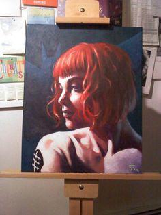 Portrait of Kate Kane (Batwoman), by Ashley Helling.