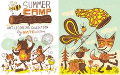 Summer Camp by Nate Williams Illustration - Summer Camp, Nate Williams, Licensing,