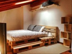 Dump A Day 25 Amazing Uses For Old Pallets: why buy a bed frame? Just make it out of pallets!