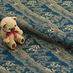 Kimono Fabric, Woven Fabric, Japan Post, Japanese Kimono, Handmade Items, Teddy Bear, Traditional, Dolls, Silk