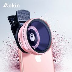 Buy Aokin Camera Lens Kit Super Wide Angle Lens with Macro Lens For iPhone 6 Samsung Galaxy Mobile Phone Lens Dslr Photography Tips, Mobile Photography, Phone Lens, Camera Lens, Iphone Mobile Phone, Mobile Phones, Iphone 6, Android Camera, Travel