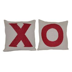 Hug Kiss Eco Pillow Cover Pair, $105, now featured on Fab.