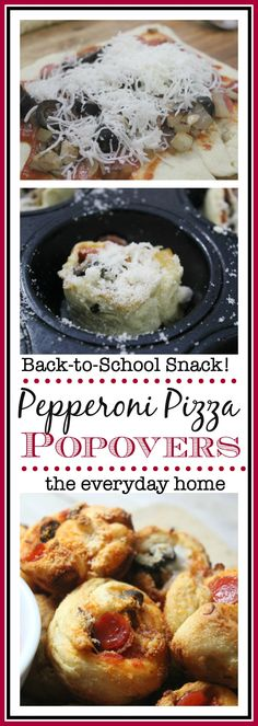 Pepperoni Pizza Popovers-from The Everyday Home