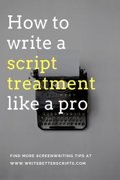 Script treatment – what is it, why you need it and how to nail it. The script treatment is a tool for you to test what's best for your plot and characters, experiment with turning points and much more – use it. learn how! Tv Writing, Script Writing, Writing Workshop, Fiction Writing, Writing Advice, Film Script, Writers Notebook, Notebook Quotes, Common Core Writing