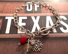 Snowflake bracelet #instagramspecial #winter #christmas #bracelet #jewelry #cowtownchic