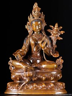 "Tibetan Dolma, Green Tara Statue 10"" http://www.dharmasculpture.com/category/tara.html"