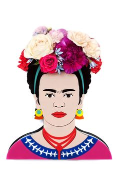 ICONIC (NO. 1) – Lovestar Frida Kahlo vase for flowers!! Beautiful and unique and artistic!!! Aaa!! I want it!!!!