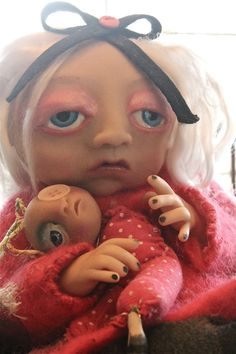 ophelia and her ugly doll by Anthropomorphize on Etsy, $267.00