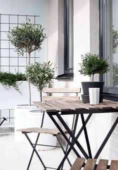 Create a stylish green balcony the city