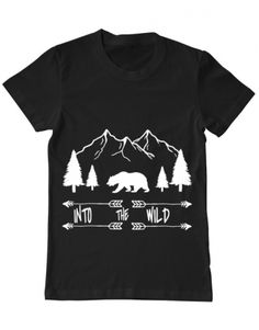 Tricou Tricou Into the wild Into The Wild, Camping, Mens Tops, T Shirt, Design, Fashion, Eagle, Wilderness, Campsite