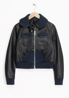 & Other Stories   Rodarte Cropped Leather Jacket