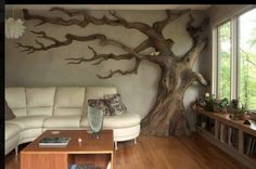 This may just be the pagan in me speaking, but a living room is nothing without trees. #livingwithnature