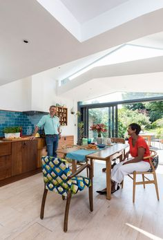 Side Return Extension, Rear Extension, Wendy West, Ikea Units, Outdoor Toilet, Splashback Tiles, The Door Is Open, Fired Earth, Big Kitchen