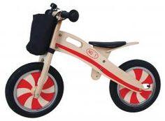 Draisienne Rouge en bois - Vélo sans Pédales - Red Woody Bike Acrobat Eureka - 475081 - Jeux, jouets et articles en bois - CKi le Roi Bruxelles - boutique + e-shop - jeux, jouets, livres en ligne
