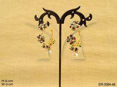 FLOWER BALI STUD EARRINGS