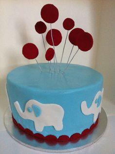 Balloons on top Birthday Board, Birthday Cakes, Birthday Ideas, First Birthday Parties, First Birthdays, Cupcake Cakes, Cupcakes, Elephant Cakes, Sweet Sixteen Parties