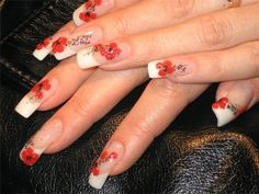 French Manicure With Designs.