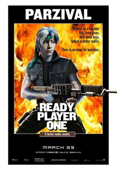 Rambo Styled Movie Poster for Ready Player One. Ready Player One Trailer, Ready Player One Movie, Classic Movie Posters, Classic Movies, Film Posters, Sylvester Stallone, Ready Player One Merchandise, Gamer Meme, Gamer Tags