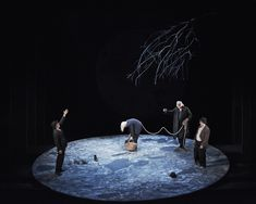 Waiting for Godot. Gare St Lazare. Scenic design by Ferdia Murphy. Lighting by Sinead McKenna. 2013