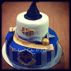 Ravenclaw harry potter themed cake my cake art in 2019 карти Harry Potter Motto Party, Gateau Harry Potter, Cumpleaños Harry Potter, Harry Potter Birthday Cake, Ravenclaw, Harry Potter Lufa Lufa, Harry Potter Christmas Decorations, Pastry Cake, Themed Cakes