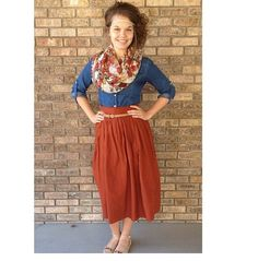 Key: this is so adorable I can't even. Another argument for a coral or red skirt!  #ApostolicOutfit #PentecostalOutfit #ModestOutfit