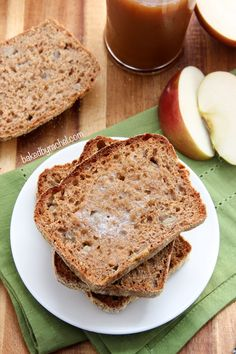 Apple Cinnamon English Muffin Bread Recipe from @bakedbyrachel