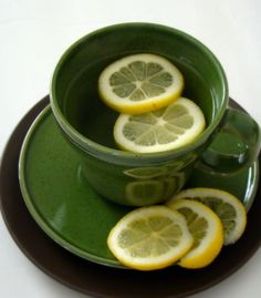 Hot water with lemon, the amazing detoxifying breakfast tonic.