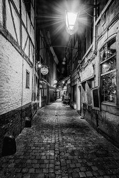 """La """"Rue Roture"""" dans le quartier populaire d'Outremeuse (Liège)"""