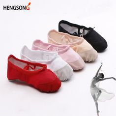 2018 New Child Ballet Pointe Dance Shoes Girls Professional Ballet Dance  Shoes With Ribbons Shoes Woman f4d4541b4635
