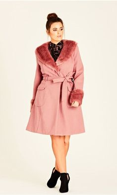 Shop Women's Plus Size  Make Me Blush Coat  | City Chic USA