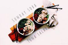 Tuna & Soba Noodle Salad, healthy & easy!!