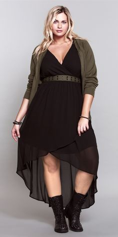 This hi-lo dress is THE perfect wear-everywhere essential... Love it. #ShopByOutfit