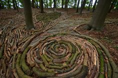 Karin van der Molen - Stop-motion, In-Between, Kasteel van Gaasbeek, Belgium, 2013 Land Art, Landscape Art, Landscape Design, Ephemeral Art, Forest Path, Outdoor Art, Environmental Art, Stop Motion, Sculpture