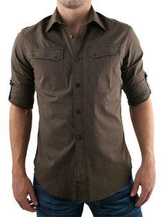 Guide London Brown Shirt Guide London Shirt - Mens long sleeve shirt from Guide London - Thin stripes throughout - Roll up sleeve attachment - Fitted style with two chest pockets - Product Code: GLLS71132BR - Material: 1 http://www.comparestoreprices.co.uk/mens-clothes/guide-london-brown-shirt.asp
