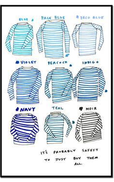 Mariniere + breton : laughed when I saw this because it describes me so perfectly then looked down at my navy horizontal striped shirt. Looks Style, Style Me, Breton Stripes, Blue Stripes, Sailor Shirt, Fashion Pattern, Moda Fashion, Style Fashion, Mode Inspiration
