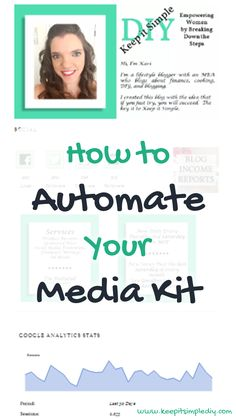 In my last few Blog Income Reports, I've mentioned that I was working on creating an automated Media Kit.  I am very happy that my media kit is now complete! Before you read the post, open my media kit in a new tab so it will be easier to follow along. The header I began …