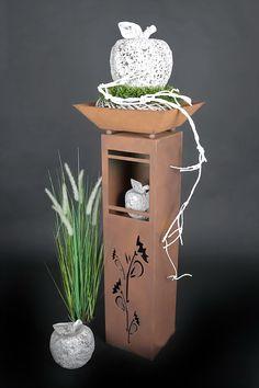 xl rost s ule schale willkommen rs77 s11 kostenloser versand blumen deko rosts ulen s ulen. Black Bedroom Furniture Sets. Home Design Ideas