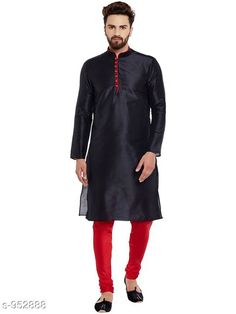 Checkout this latest Kurta Sets Product Name: *Traditional Cotton Blend Men's Kurta Pyjama Set* Top Fabric: Cotton Blend Bottom Fabric: Cotton Blend Scarf Fabric: No Scarf Sleeve Length: Long Sleeves Bottom Type: Churidar Pant Stitch Type: Stitched Pattern: Solid Sizes: S, M, L, XL, XXL Easy Returns Available In Case Of Any Issue   Catalog Rating: ★4.1 (1658)  Catalog Name: Men's Ethnic Fancy Kurta Pyjama Sets Vol 3 CatalogID_112579 C66-SC1201 Code: 578-952888-6891