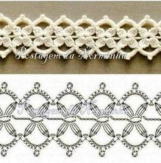 Beautiful #crochet pattern for edging, scarves or jewelry - depending on your yarn and gauge.: