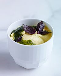Preserved-Lemon Pudding with Basil Syrup  Recipe