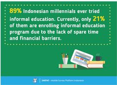 Interest of Informal Education - Survey Report - JAKPAT  #Indonesia #mobilesurvey #marketresearch #shortcourse #education