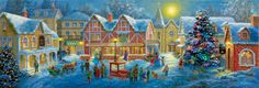 500 piece jigsaw puzzle from SunsOut. Artist: Nicky Boehme.
