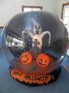 gemmy halloween 6 ft airblown inflatable 2006 grave yard ghost whirlwind globe ebay