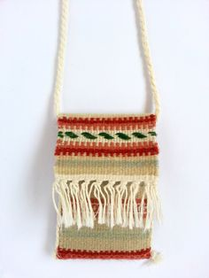 Buy now this handmade woolen small pouch - genuine traditional Romanian folk art