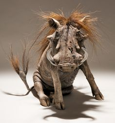 Warthog Sculpture - Nick Mackman Animal Sculpture