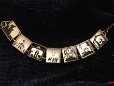 Silhouette in black and white Nativity bracelet by RandomStuff, $17.50