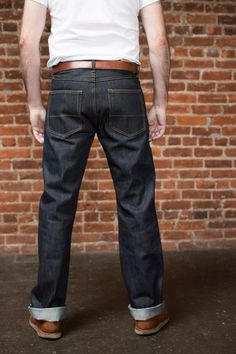 Our 16.5 oz. Ankara is a true straight leg fit made with Cone Mills White Oak orange line raw denim, selvedge denim (sanforized).
